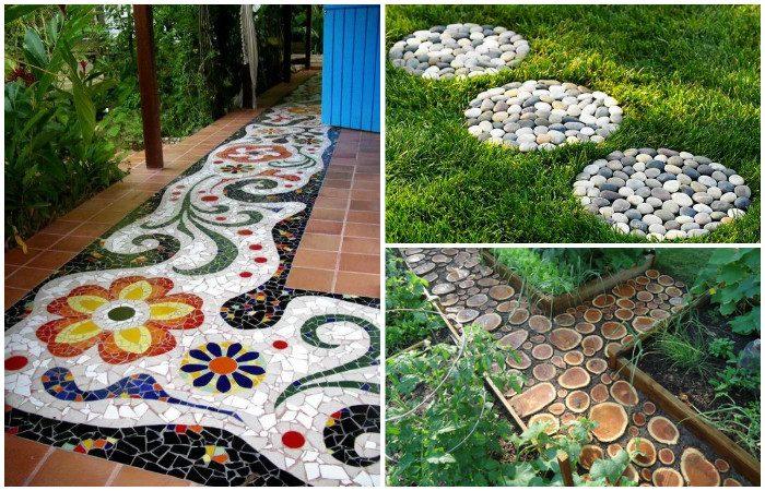 Идеи красивых садовых дорожек. Фото: samodelkinoblog.com.